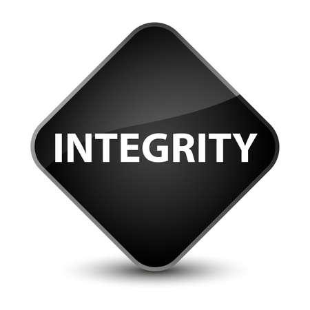Integrity isolated on elegant black diamond button abstract illustration Stock Photo