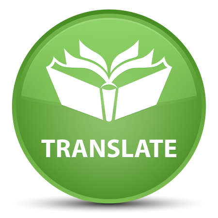 Translate isolated on special soft green round button abstract illustration