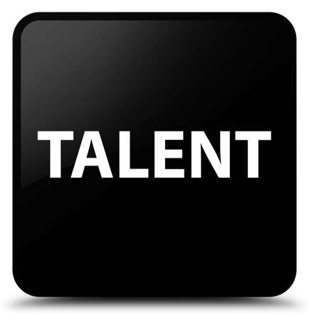 Talent isolated on black square button abstract illustration