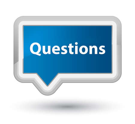 Questions isolated on prime blue banner button abstract illustration