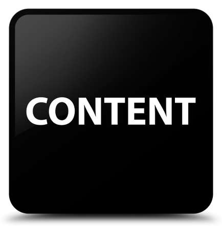 Content isolated on black square button abstract illustration