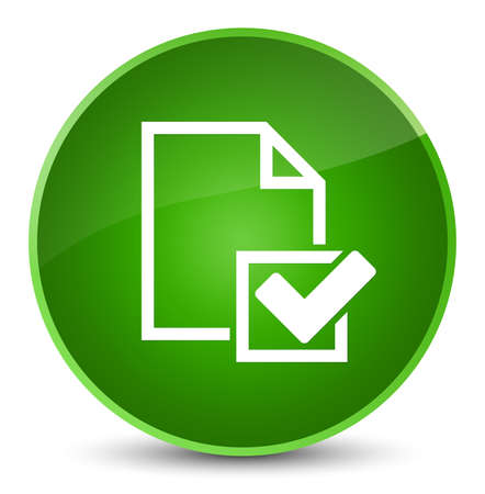 Checklist icon isolated on elegant green round button abstract illustration