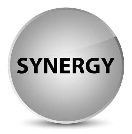 Synergie op elegante witte ronde knoop abstracte illustratie die wordt geïsoleerd