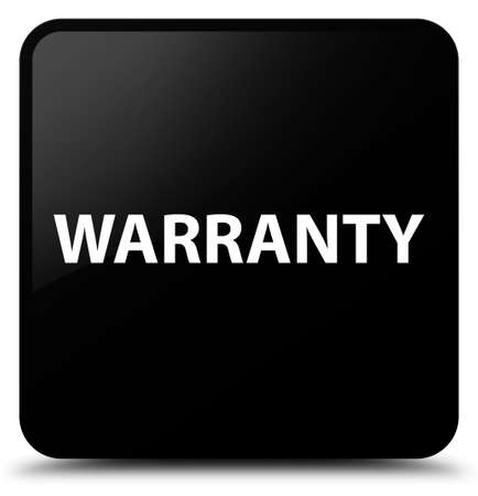 Warranty isolated on black square button abstract illustration Stock Photo