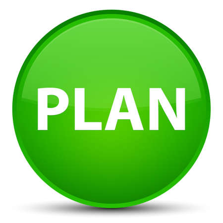 Plan isolated on special green round button abstract illustration Stock Photo