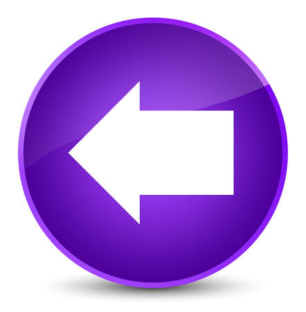 Back arrow icon isolated on elegant purple round button abstract illustration