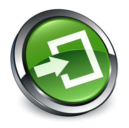 Login icon isolated on 3d soft green round button abstract illustration