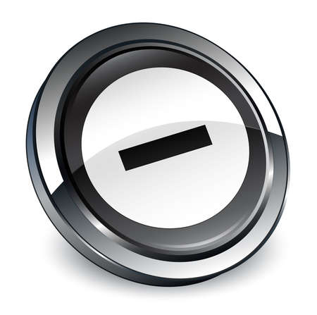 Cancel icon isolated on 3d black round button abstract illustration