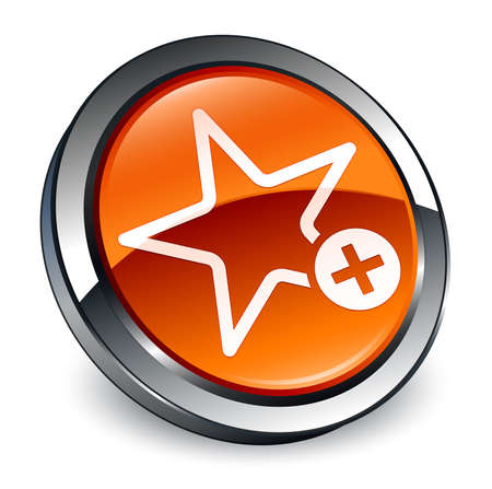 Add to favorite icon isolated on 3d brown round button abstract illustration