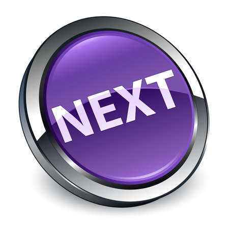 Next isolated on 3d purple round button abstract illustration Stock Photo