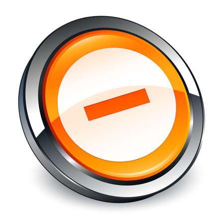 Cancel icon isolated on 3d orange round button abstract illustration Stock Photo