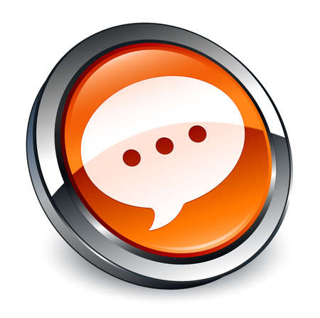 Conversation icon isolated on 3d brown round button abstract illustration