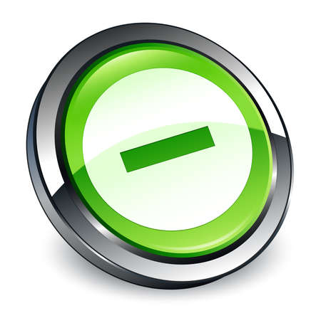 Cancel icon isolated on 3d green round button abstract illustration