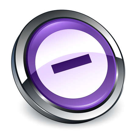 Cancel icon isolated on 3d purple round button abstract illustration Stock Photo