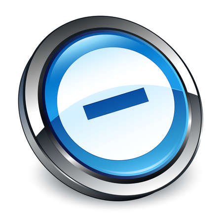 Cancel icon isolated on 3d blue round button abstract illustration Stock Photo