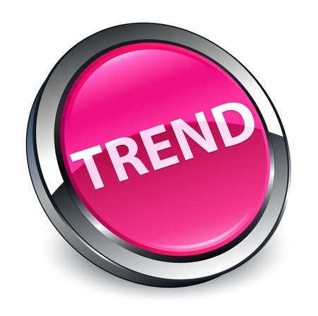 Trend isolated on 3d pink round button abstract illustration 스톡 콘텐츠