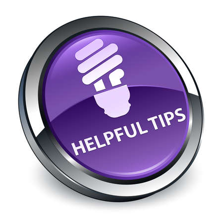 Helpful tips (bulb icon) isolated on 3d purple round button abstract illustration
