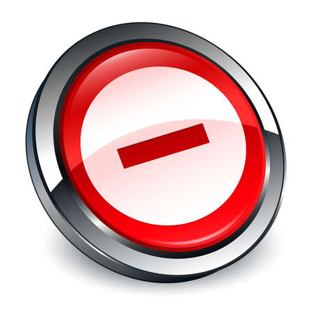 Cancel icon isolated on 3d red round button abstract illustration