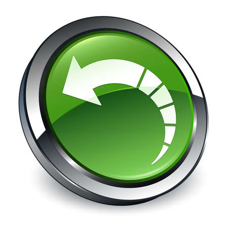 Back arrow icon isolated on 3d soft green round button abstract illustration Stock Photo