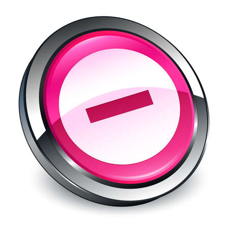 Cancel icon isolated on 3d pink round button abstract illustration Stock Photo