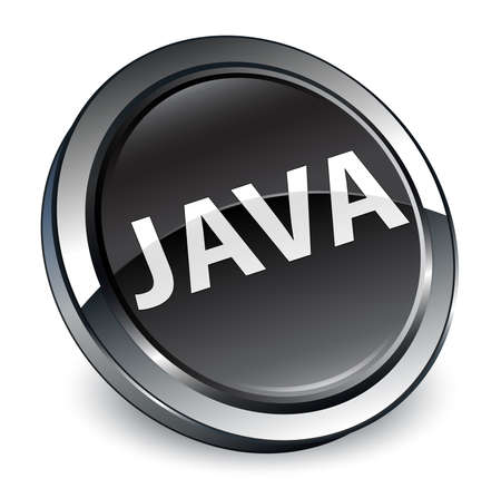 Java isolated on 3d black round button abstract illustration