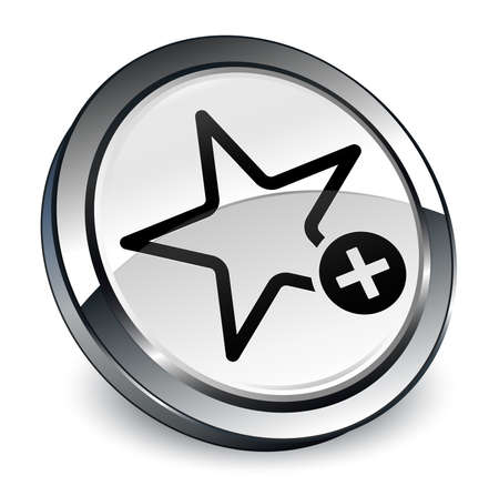 Add to favorite icon isolated on 3d white round button abstract illustration
