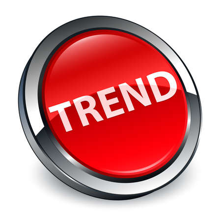 Trend isolated on 3d red round button abstract illustration