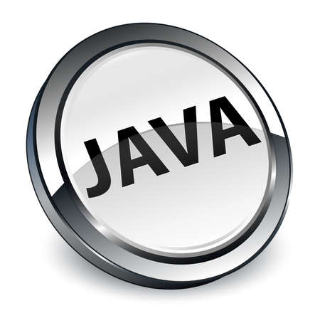 Java isolated on 3d white round button abstract illustration