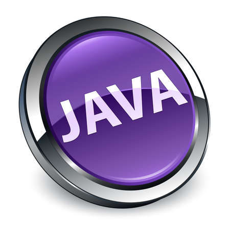 Java isolated on 3d purple round button abstract illustration