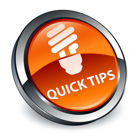 Quick tips (bulb icon) isolated on 3d brown round button abstract illustration