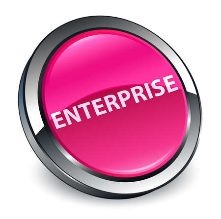 Enterprise isolated on 3d pink round button abstract illustration Фото со стока - 100846234