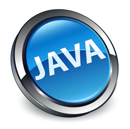 Java isolated on 3d blue round button abstract illustration