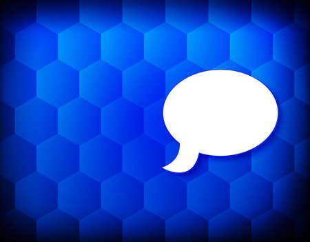 Chat icon hexagon creative abstract blue background seamless hexagonal pattern grid illustration design 版權商用圖片