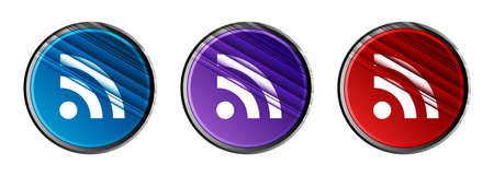 RSS icon natural sky light round button set motion stripes line pattern illustration