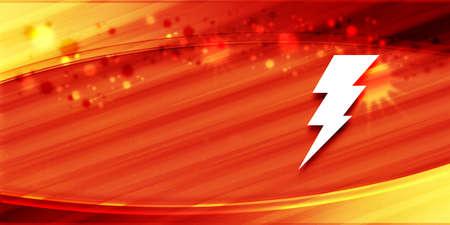 Electricity icon special summer sunlight orange banner background bright sun shine illustration 版權商用圖片