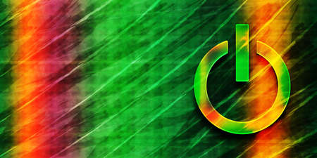 Power icon abstract premium green banner background colorful bright pattern texture illustration 版權商用圖片