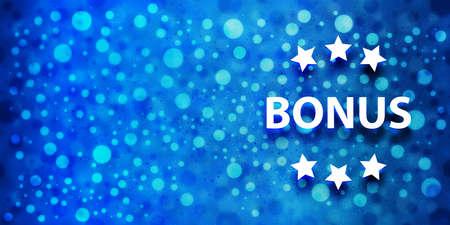 Bonus icon special glossy bokeh blue banner background glitter pattern shine texture bright illustration