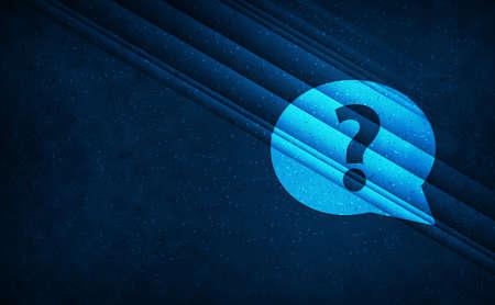 Question mark bubble icon natural sky light abstract dark blue background stripes line motion pattern illustration design 版權商用圖片