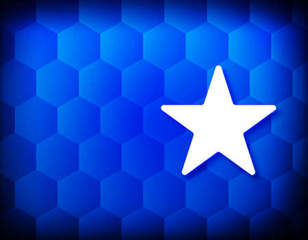 Star icon hexagon creative abstract blue background seamless hexagonal pattern grid illustration design 版權商用圖片