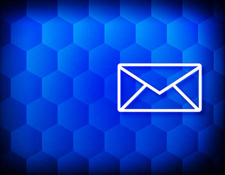 Email icon hexagon creative abstract blue background seamless hexagonal pattern grid illustration design