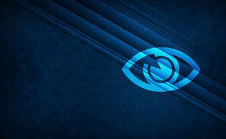Eye icon natural sky light abstract dark blue background stripes line motion pattern illustration design 版權商用圖片
