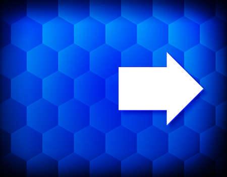 Next arrow icon hexagon creative abstract blue background seamless hexagonal pattern grid illustration design 版權商用圖片