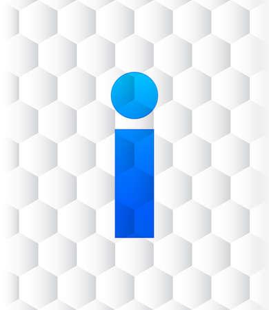 Info icon hexagon seamless hexagonal pattern abstract white background illustration design
