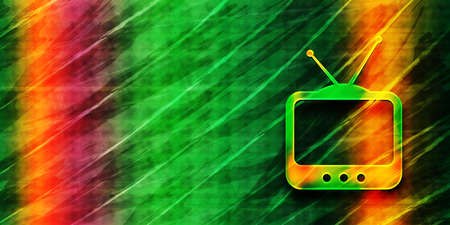 TV  icon abstract premium green banner background colorful bright pattern texture illustration