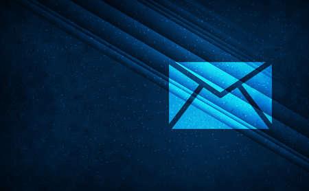 Email icon natural sky light abstract dark blue background stripes line motion pattern illustration design