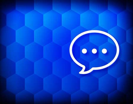 Talk icon hexagon creative abstract blue background seamless hexagonal pattern grid illustration design 版權商用圖片