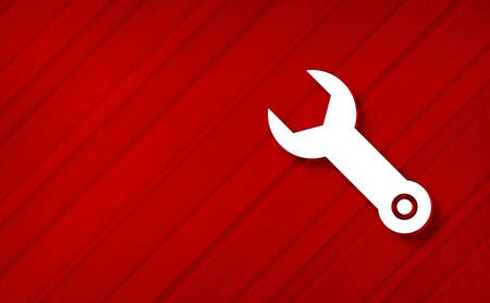 Wrench icon dreamy abstract red background diagonal stripe line pattern design backdrop illustration