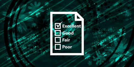 Questionnaire icon floral emerald green banner background natural pattern fractal illustration design 版權商用圖片