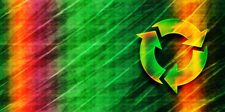 Refresh icon abstract premium green banner background colorful bright pattern texture illustration 版權商用圖片
