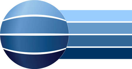 Blue blank business diagram Stock Vector - 15413668
